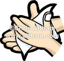 Wash Hands Cartoon.
