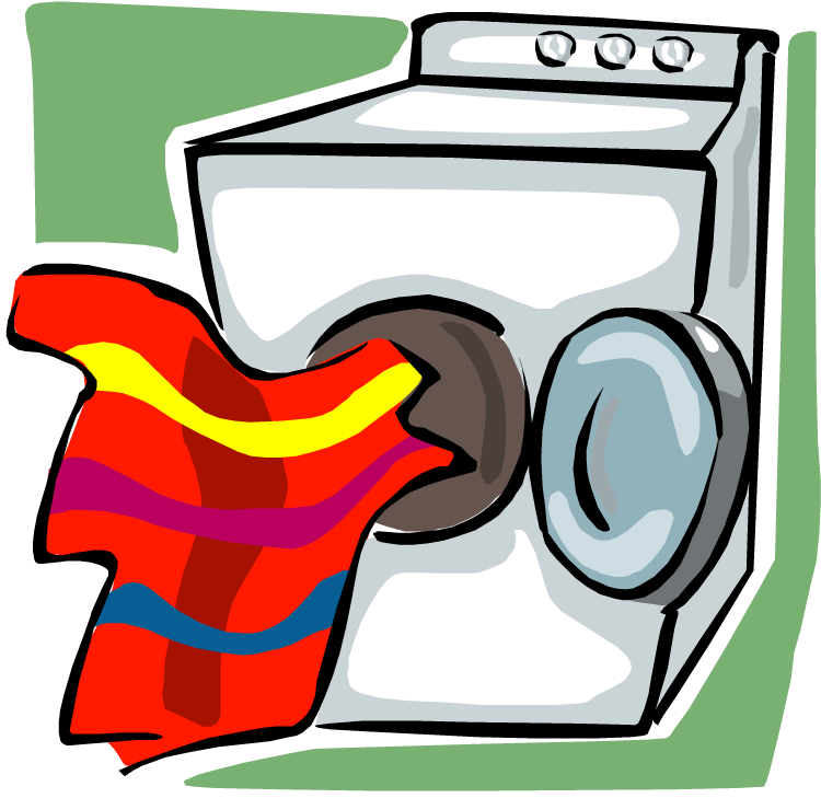 Cartoon Clothes Dryer ~ Drying laundry clipart clipground