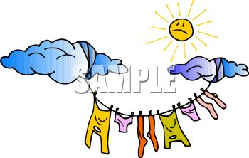 Dry clothes clipart.