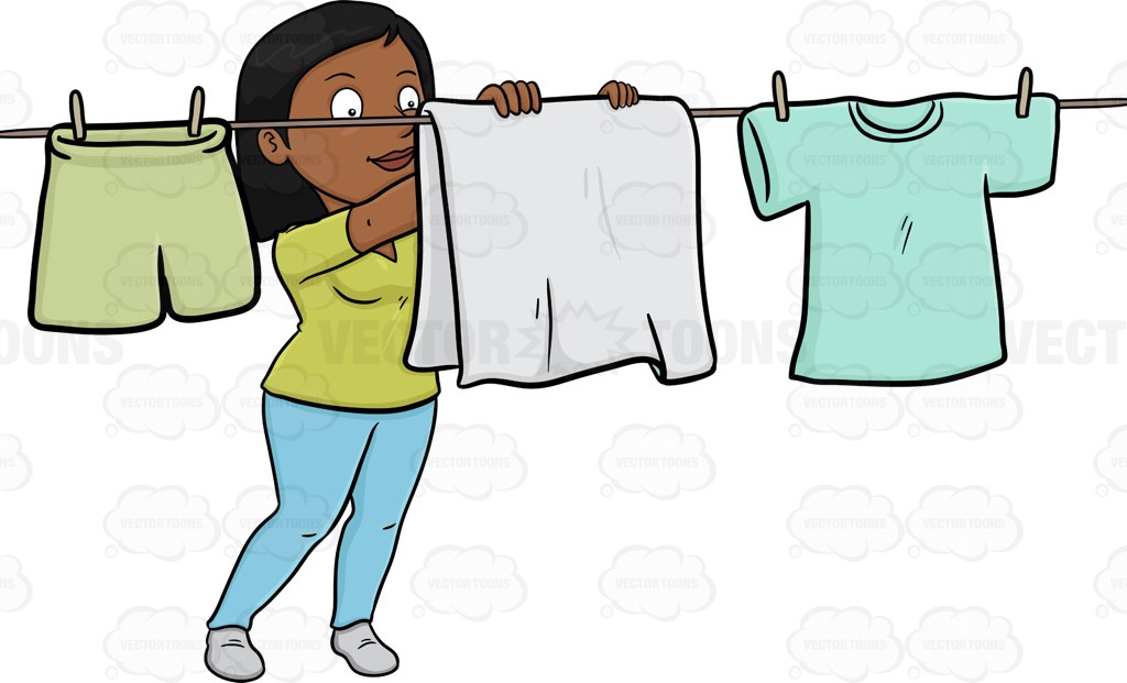 Cartoon Clothes Dryer ~ Dry laundry clipart clipground