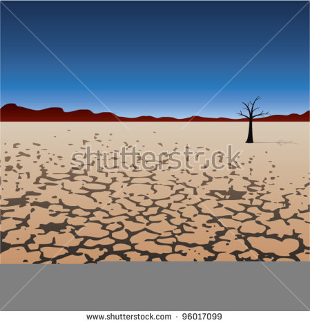 Dry Desert Stock Photos, Royalty.