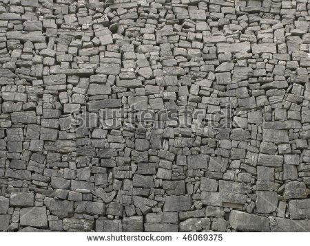 Ancient Stone Wall Stock Photos, Royalty.