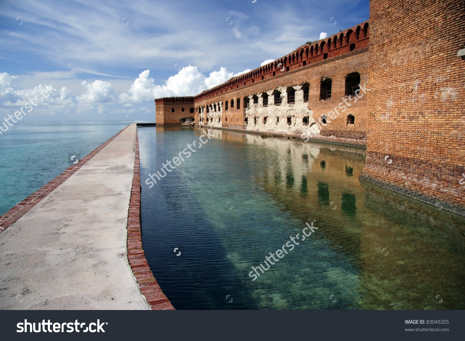 Fort Jefferson Dry Tortugas National Park Stock Photo 83049205.