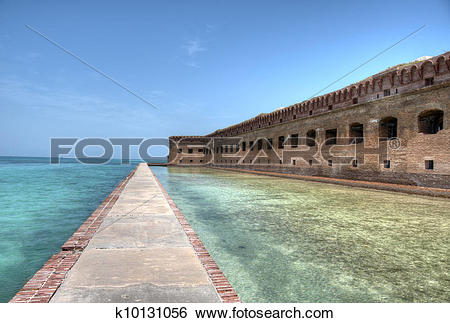 Stock Images of Fort Jefferson at Dry Tortugas k10131056.