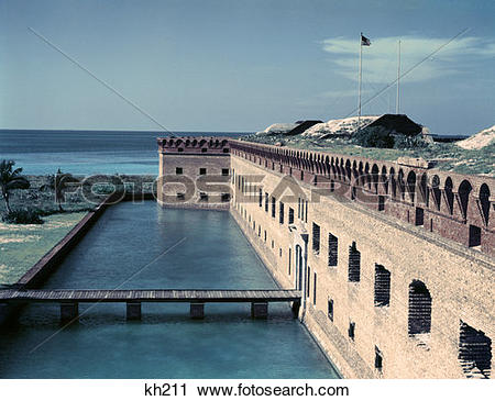 Stock Photography of Florida Fort Jefferson Dry Tortugas kh211.