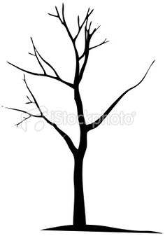 Dead tree outline clipart.
