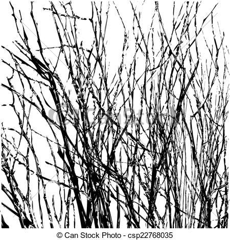 Vectors of Tree Twigs Silhouette Vector.