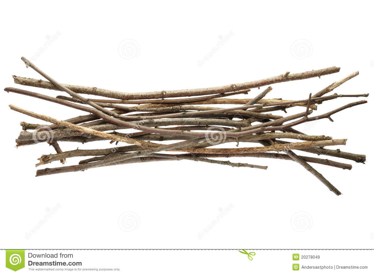 Sticks And Twigs Royalty Free Stock Images.