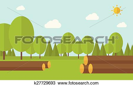 Clipart of Pile of drywood k27729693.