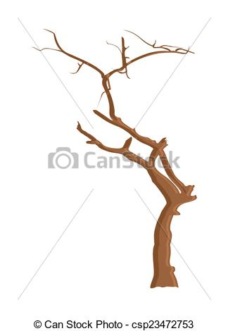 Clipart Vector of Dry Tree Wood.