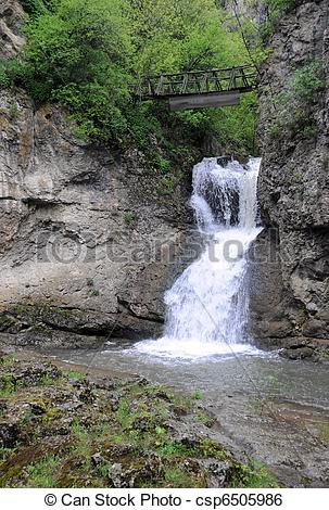 Stock Image of Waterfall near the Dryanovo monastery and the Bacho.