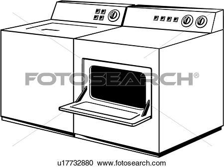 Clipart of , appliance, dryer, washer, u17732880.