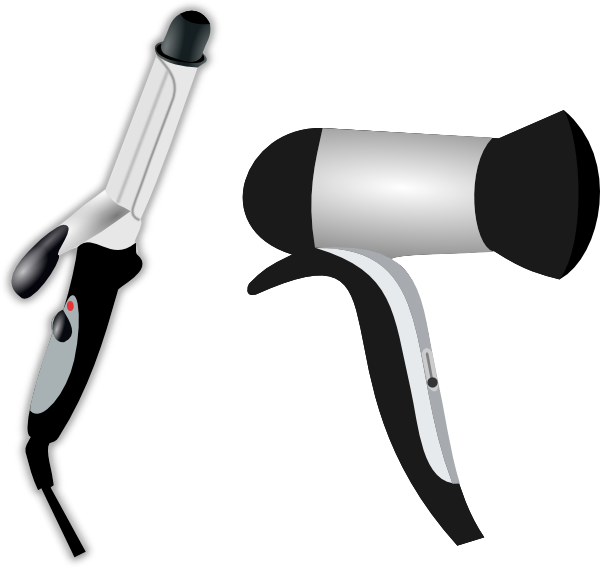 Hair Iron And Blow Dryer Clip Art at Clker.com.