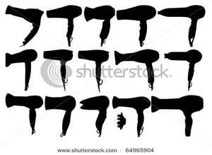 of Hair Dryers Clip Art Image.