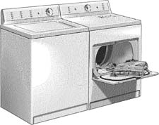 Clip Art Gas Dryers.