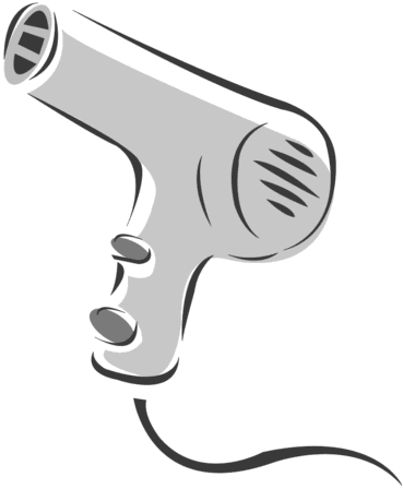 Hair dryer clipart free outline.