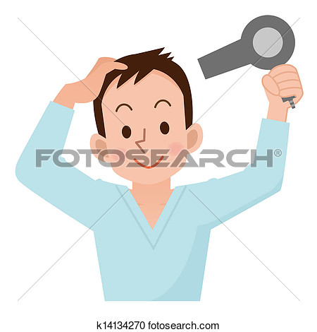 Showing post & media for Cartoon guy drying hair.