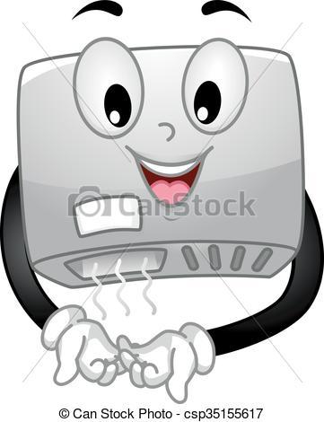 Hand Dryer Mascot Drying Hands.