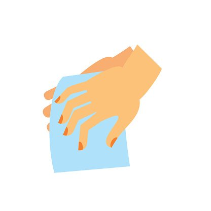 Drying Hands Icon premium clipart.
