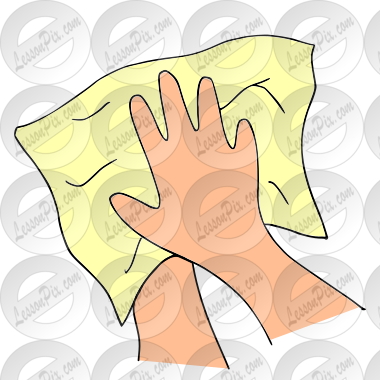 Dry Hands Picture for Classroom / Therapy Use.