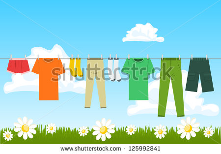 Drying Clothes Stock Photos, Royalty.