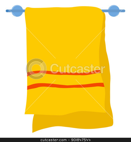 Towel on a hanger stock vector.