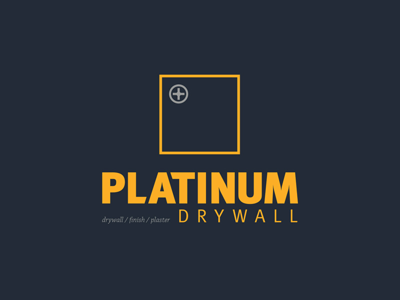 Platinum Drywall logo by Cedric Cummings on Dribbble.