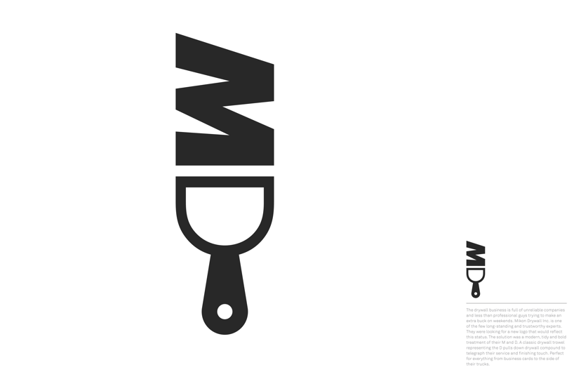 Mykon Drywall Logo Category Brand Identity / Logo Design.