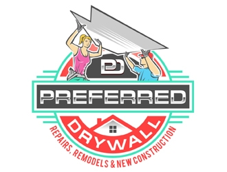 Preferred Drywall logo design.