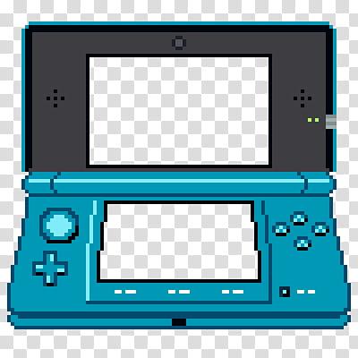 Blue and black Nintendo DS illustration transparent.