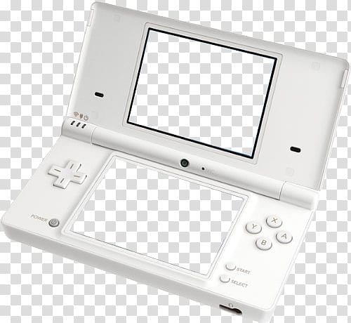 Grunge Devices white Nintendo DS transparent background PNG.