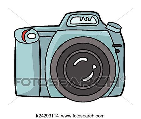 Blue camera dslr camera Clipart.