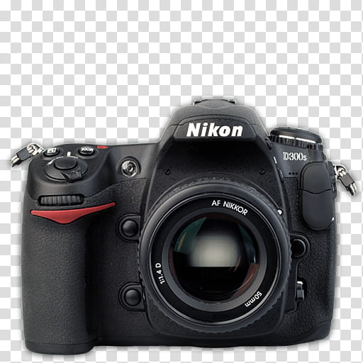Modern DSLR Icon Collection, Nikon_Ds, black Nikon Ds DSLR.