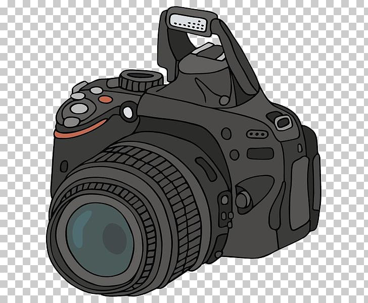 Camera Photography Drawing Cartoon, Simple camera, black.