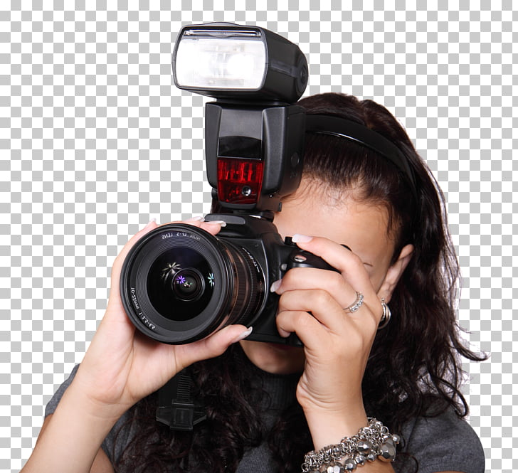 Camera Flash, Woman Taking Photo with a Digital Camera, woman.