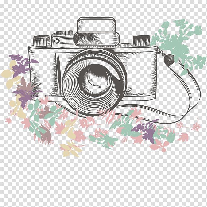 DSLR camera illustration, Camera Cartoon Drawing, camera.