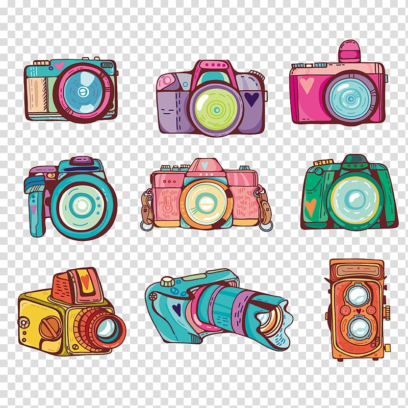 Camera Illustration, camera transparent background PNG.