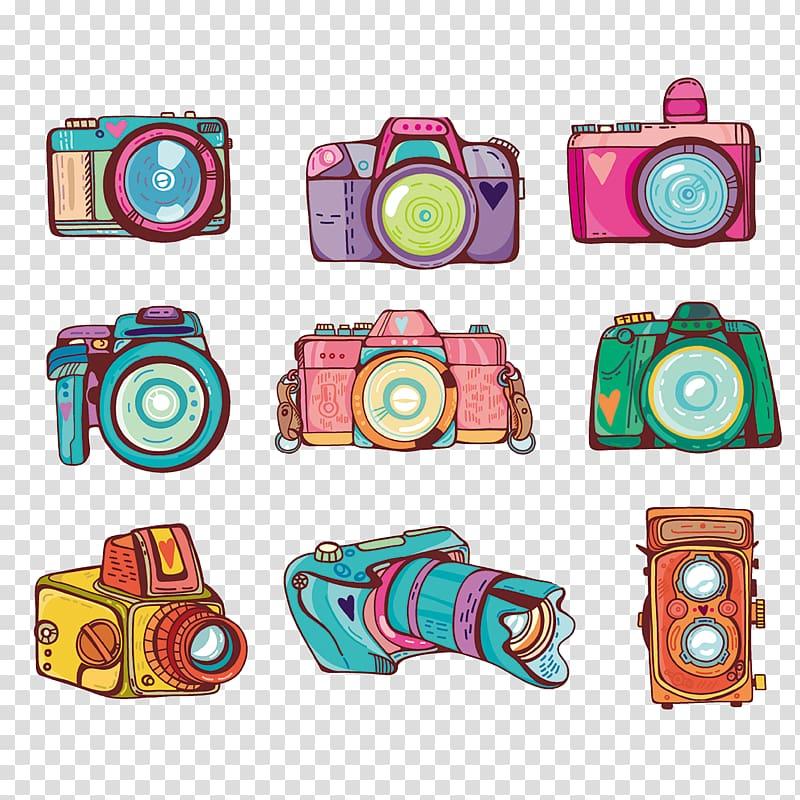 Camera Illustration, camera transparent background PNG.