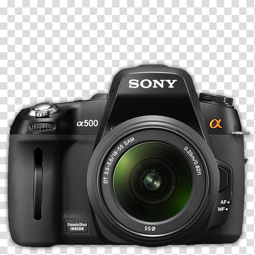 Modern DSLR Icon Collection, Sony_A, black Sony a.
