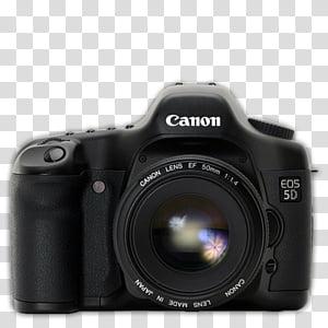 Modern DSLR Icon Collection, Nikon_D, black Nikon SLR camera.