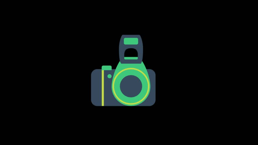 Cinema Video Icons Animation with Stock Footage Video (100% Royalty.