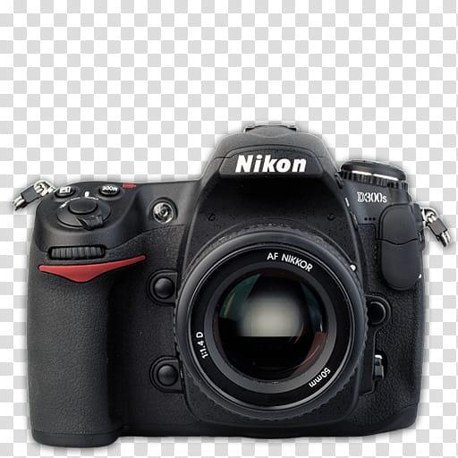 Modern DSLR Icon Collection, Nikon_Ds, black Nikon Ds DSLR camera.