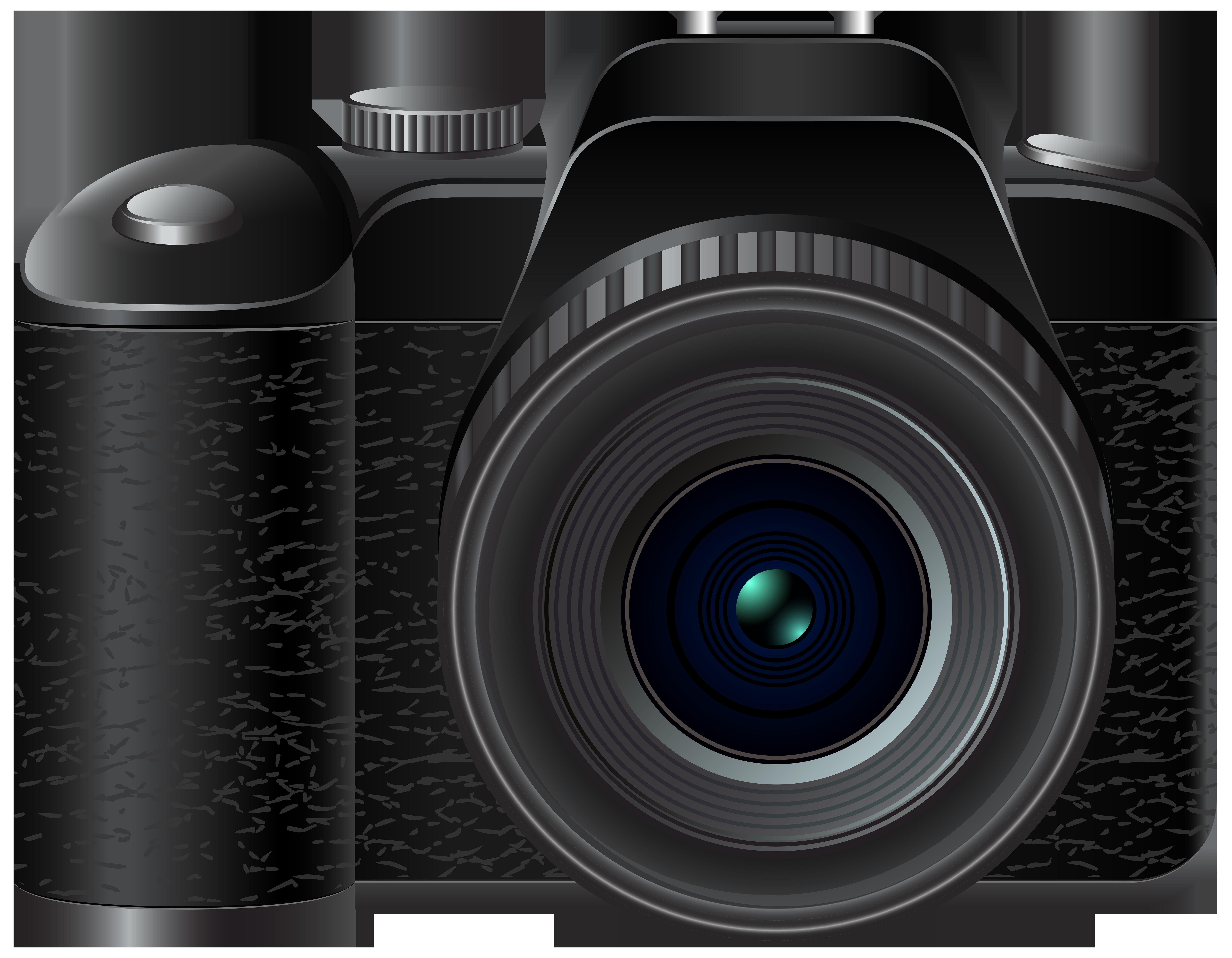 DSLR Camera Transparent Background Vector Vector, Clipart, PSD.