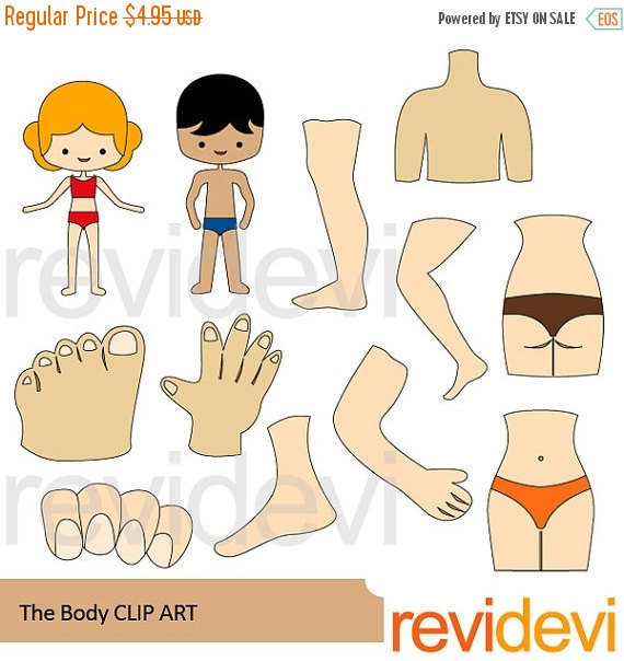 30% OFF SALE The body clipart body parts clipart anatomy by.