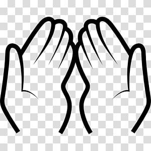 Dua Prayer Islam Salah, hands gesture transparent background.