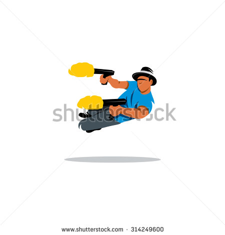 Dual Guns Stock Images, Royalty.
