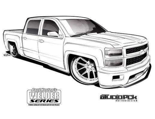 Hot Rod Truck Coloring Pages.