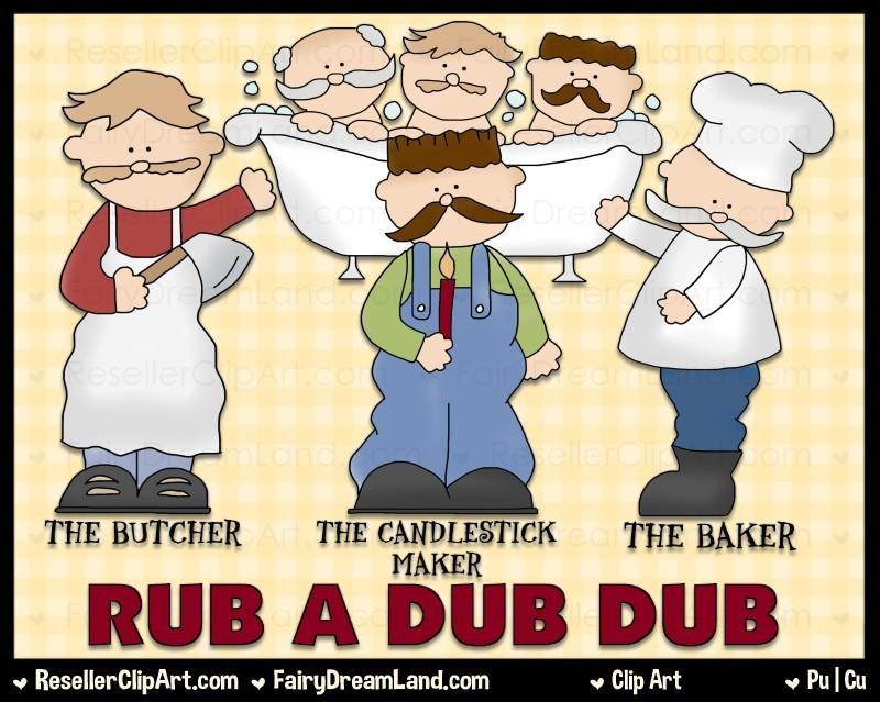 Rub A Dub Clip Art by Cheryl Seslar.