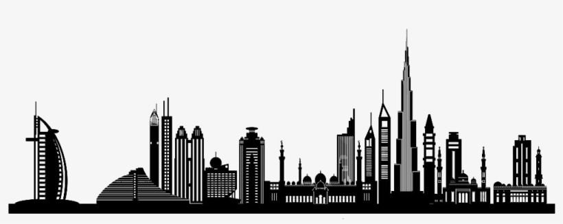 Dubai Silhouette Clip Art City Building.