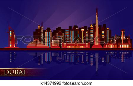 Dubai night clipart.